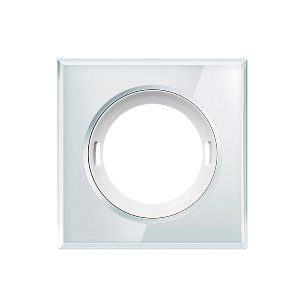 FLAT COVER GLASS SQUARE WH